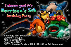 Pokemon Birthday Invitation Pm001 Invite Studioinvite Studio