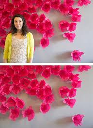 Tissue Paper Flower Wall Art Diy Paper Flower Backdrop Tutorials Chic Decors Paper Flowers