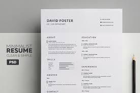 Minimalist Resume/CV - David