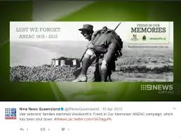 the evolution of anzac day from until today n anzac day woolworths 2015