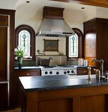 S Custombuilt By The Designer And His Dad These Mahogany Kitchen Cabinets  Feature Full Inset Doors Drawers Brass Bin Pulls