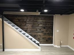 dark basement stairs. Perfect Basement Wood Plank Wall Coming Down Basement Staircase 1x8x8ft Tongue And Groove  Planks With Two Coats Of Minwax Dark Walnut Stain In Basement Stairs E