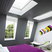 Bedroom:Grey Ceiling Attic Idea With Large Glass Window Ideas Choosing the  best attic bedroom