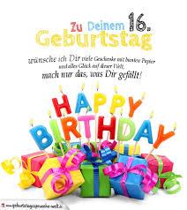 Geburtstagskarten Zum Ausdrucken 16 Geburtstag