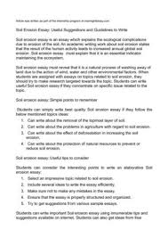 soil erosion essay useful suggestions and guidelines to  soil erosion essay useful suggestions and guidelines to write
