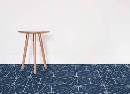 starburst tile navy room vinyl flooring