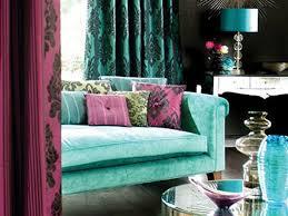 Turquoise Purple Color Combinatior For Home Decor