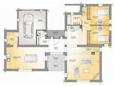 Plans De Maison : RDC Du Modèle Bioclima : Maison Moderne à étage De 160m2.  2 Chambres + 1 Suite Parentale #Maison #contemporaine #moderne  #bioclimatique ...