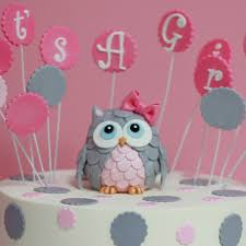 Baby Shower Owl Cake Topper  EtsyOwl Baby Shower Cakes For A Girl