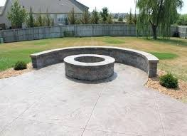 Stamped concrete patio with fire pit cost Aggregate Concrete Acid Stained Patio Decorative Concrete Painting Patios Staining Stamped Concrete Patio And Fire Pit Darrelgriffininfo Stamped Concrete Patio And Fire Pit Large Ashlar Pattern With