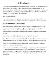 review examples for employees self evaluation examples template business