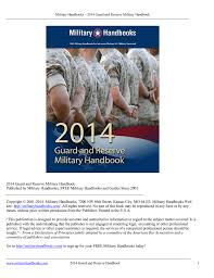 2014 Guard And Reserve Military Handbook Published By Military