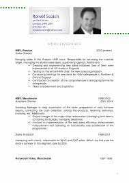 Resume In English Examples Fresh English Resume Example English Cv Examples Oklmindsproutco Cv 19