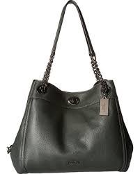 COACH Turnlock Edie (Dk Ivy) Handbags