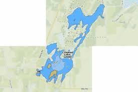 Crooked Lake Lower Fishing Map Us_mi_8_202 Nautical
