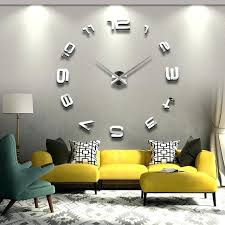 new large digital wall clock for living room big creative novelty watch modern clocks at argos
