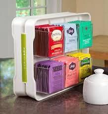 Tea Bag Display Stand Tea Bag Rack Stand Organizer Holder Kitchen Home Storage Box 8