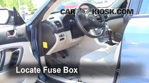 interior fuse box location 2005 2009 subaru legacy 2007 subaru locate interior fuse box and remove cover