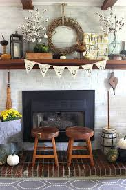 DIY Autumn Rustic Mantel Decor Ideas