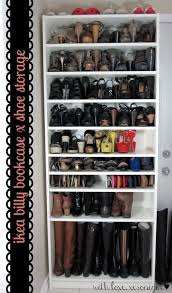 clever shoe storage with ikea billy bookcase get a more shoe storage by adding some