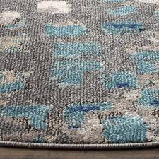 stunning light blue and grey area rug with bungalow rose crosier grey light blue