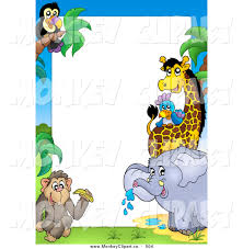 zoo animals clipart border. Exellent Border Clip Art Of A Border African Animals Around White Space For Text By  G2x3bt Clipart And Zoo P
