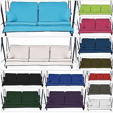 Replacement Purple 3 Seater Swing Seat Hammock Cushions Set Pads