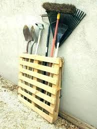garden tool storage rack yard lawn shed ga