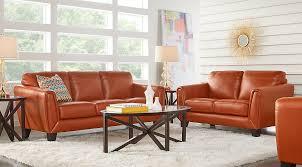Orange & Gray Living Room Furniture Ideas & Decor
