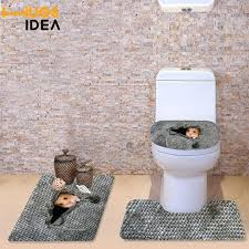 toilet seat cover set home decorations bathroom toilet seat cover sets set hamster cat owl 3pc