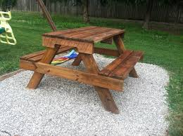 Best Nails Then Diy Kids Picnic Table From Pallet Wood Diy At Needles in Diy  Projects