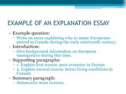 explanation essay examples  wwwgxartorg types of essays lt br gt example of an explanation