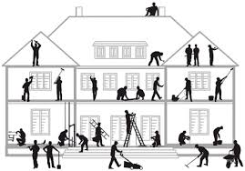 (A) Trades people involved in the building of a house (Note that not all  trades apply to all houses)