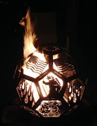 ball fire pit. fire pit department theme ball