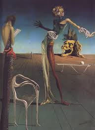 artwork woman with a head of roses salvador dali oil on wood panel