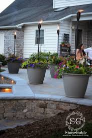 diy patio ideas pinterest. 25+ Best Fire Pots Ideas On Pinterest | Small Pit, Tabletop I Like The Two Level Patio, Lighting--pretty Diy Patio