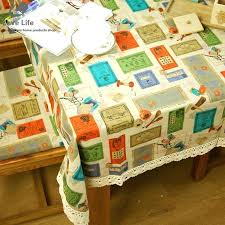oil cloth tablecloth round