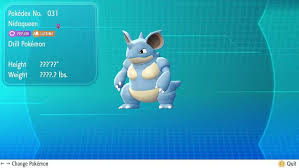 Nidoking Evolution Chart How To Get Nidoking Nidoqueen In Pokemon Lets Go Heavy Com