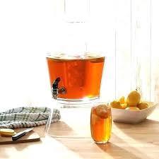 3 gallon drink dispenser beverage with stand glass plastic spigot