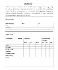 Landlord Inventory Template Cool Sample Landlord Inventory Checklist Inventory Templates For