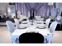modern contemporary baroque designer white lacquer dining room tables