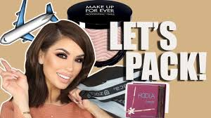 how i pack my makeup and what i take iluvsarahii