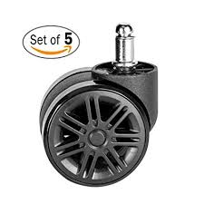 mckoo office chair casters wheels for hardwood 60mm 2 3 8