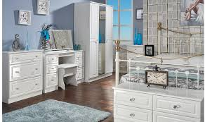 Ready Assembled White Bedroom Furniture High Gloss Veneered Household Furniture Colour Supplies