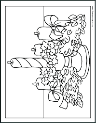 Advent Wreath Coloring Pages Advent Th Coloring Page Colouring Pages