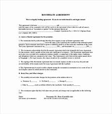 Lease Agreements Templates Inspiration Roommate Lease Agreement Template 48 Awesome Free Roommate Agreement