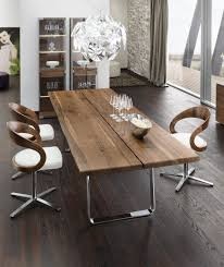 Inspiring Image Of Dining Room Decoration With Wood Dining Table Bases :  Elegant Image Of Modern
