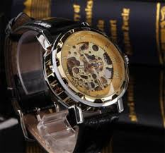 discount best skeleton watches for men 2017 best skeleton best selling mechanical skeleton hollow leather straps cool watches for men luxury black gold quartz wristwatch