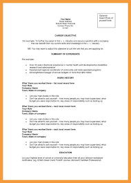 Accounting Resume Objective Examples Of Resumes Summary For Career