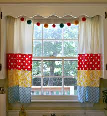 red and white kitchen curtains pattern